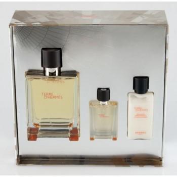 HERMES Terre D`Hermes set (parfum 75ml + 40ml a/sh balsam + edp 12.5ml) М