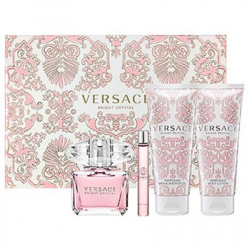 VERSACE Crystal Bright set (edt 50ml+ 50ml B/Lotion+50ml Shower gel+ edt 5ml )