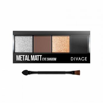 DIVAGE палетка теней д/век Pallettes Eye Shadow Metal Matt 01