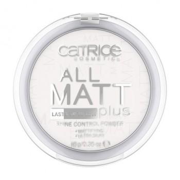 Catrice пудра комп.All Matt фиксирующая белая 01