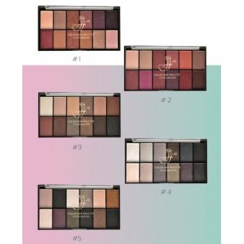 FFLEUR EP-12 №1 тени д/век комп.(12 цвет.) Color Bar Pallete