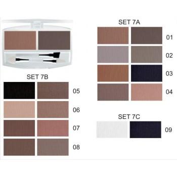FFLEUR EB-01 7C тени д/век комп.(2 цвета) +2 кисти ( №09 )