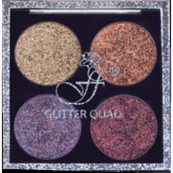 FFLEUR E-494 №1 тени д/век комп.(4 цвет.) Glitter Quad
