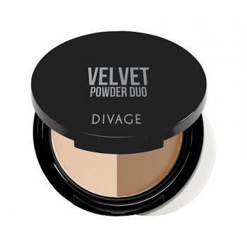 DIVAGE пудра комп. двухцветн. Velvet  02